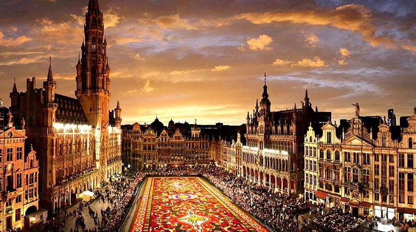 Sunset at the Grand Place